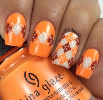 nails orange fall acrylic 58 ideas nails  acrylic nail