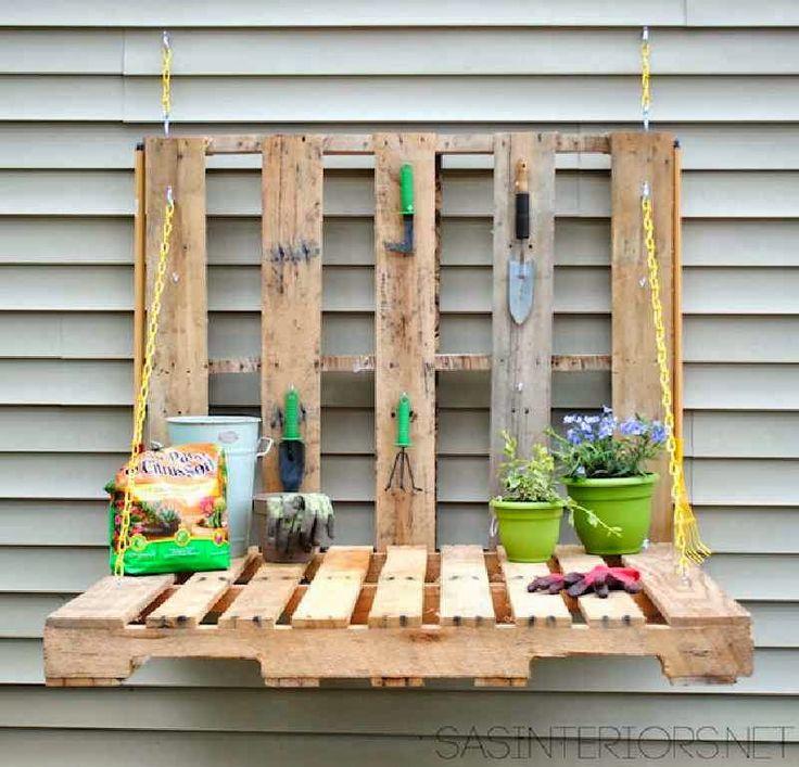 Como hacer una mesa plegable para el jardín.
