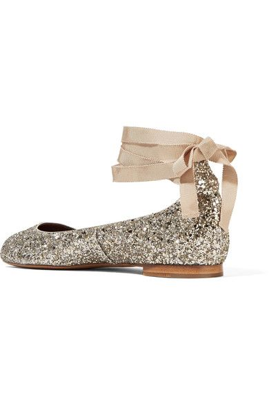Heel measures approximately 10mm/ 0.5 inches Silver and gold glittered leather Ties at ankle Made in Italy