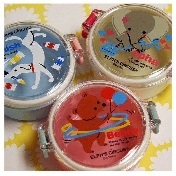 Elph's Circus Bento for snacks. Japanistic online shop. BPA free
