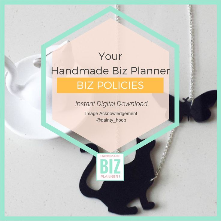 Design your Handmade Business Policies with this worksheet.
