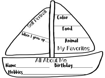 I plan to use this with my sailing/nautical theme. The heading will be Sailing into 2nd grade. You can use this all about me page for any grade level. This is perfect for a back to school activity. The sailboat gives the same old back to school page a new look.