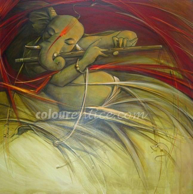Ganesha Bansuri by Manoj Das