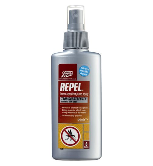 Boots Pharmaceuticals Repel Insect Repellent Pump Spray- 120ml - Boots