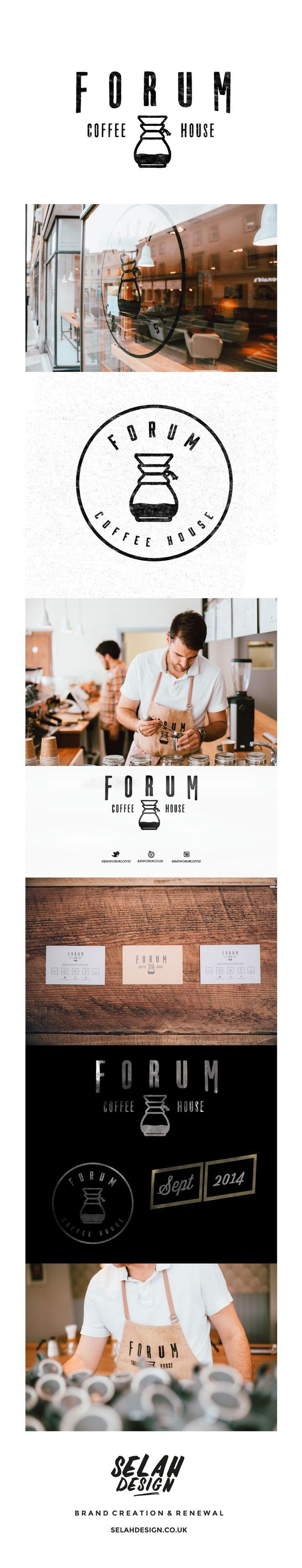 Forum Coffee House Branding Deisgn by Selah Design