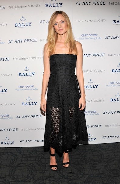 Michelle Williams in Katie Ermilio, Sienna Miller in Topshop and More: Heather Graham in Stella McCartney at the Cinema Society & Bally screening of Sony Pictures Classics At Any Price