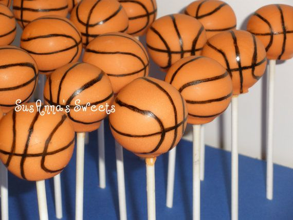 Basketball Cake Pops by SusAnnasSweets on Etsy