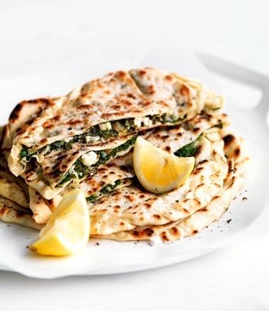 Spinach, Feta, Pinenut & Chilli Gözleme - Perhaps, not so healthy, but delicious?