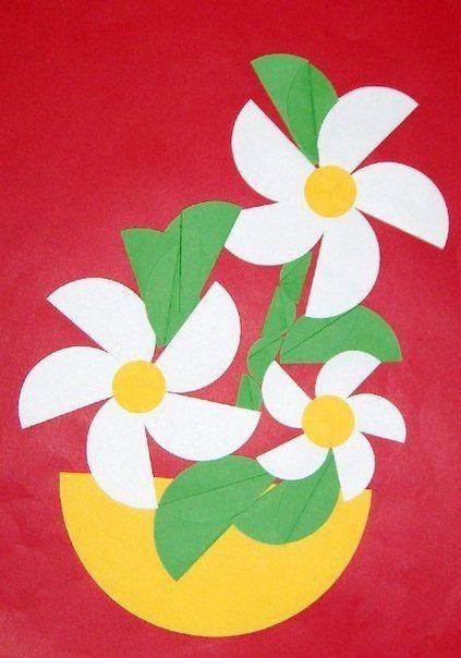 bloemen van halve cirkels