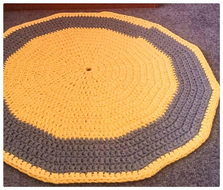 70cm crochet rug, Ribbon XL.