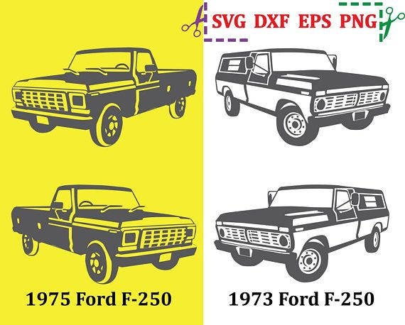 Truck Svg Car Svg File Ford Truck Svg Ford F 250 Ford Clipart