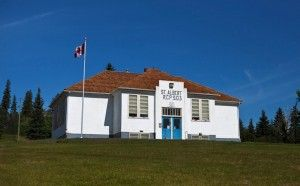"""St. Albert's """"Little White School"""" is a two-room schoolhouse that was opened back in 1948.  Closed in 1987, the school is now a treasured historical site."""