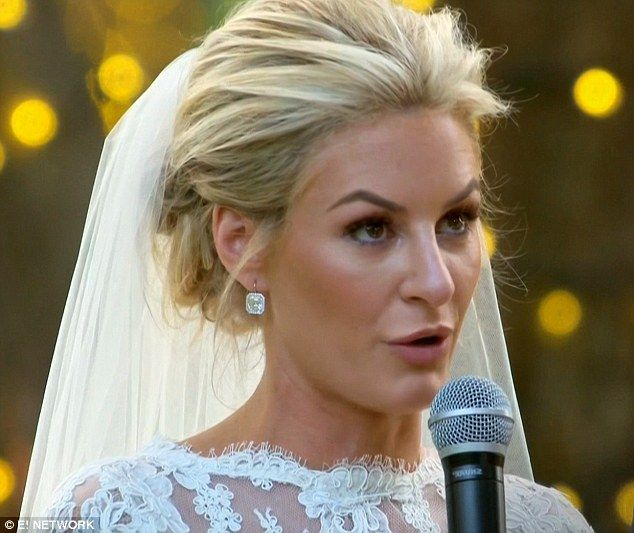 Wedding vows: Morgan Stewart spoke about fashion while reciting her wedding vows on Sunday...