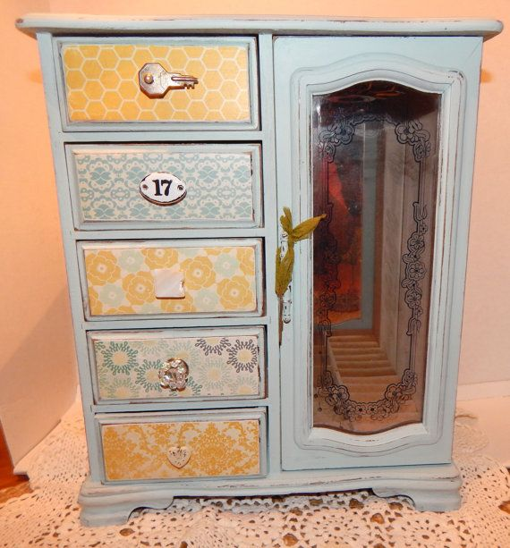 Shabby Jewelry Box Cottage Chic by SunsetblondieDesigns on Etsy, $52.00