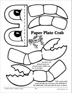 9357c3967193766193a3ba1c473cb8f7 crab paper plate craft plate crafts 25 best ideas about crab crafts on pinterest paper plate crab on easy crab coutout templates