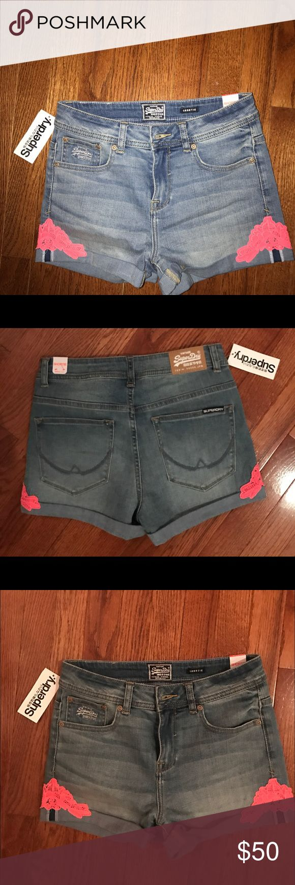 NWT superdry womens denim shorts size 28 Brand new shorts perfect for spring/summer Superdry Shorts Jean Shorts