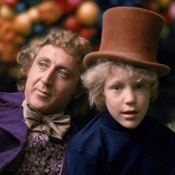 Gene Wilder & Peter Ostrum in Willy Wonka & the Chocolate Factory