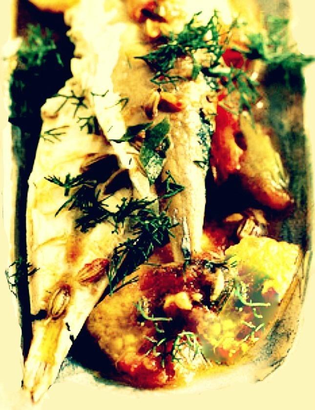 Mackerel with Wild Fennel Recipe - Sgombri al FinocchioSelvatico