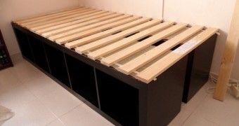 Best 25 ikea platform bed ideas on pinterest diy bed for Ikea slats vs box spring