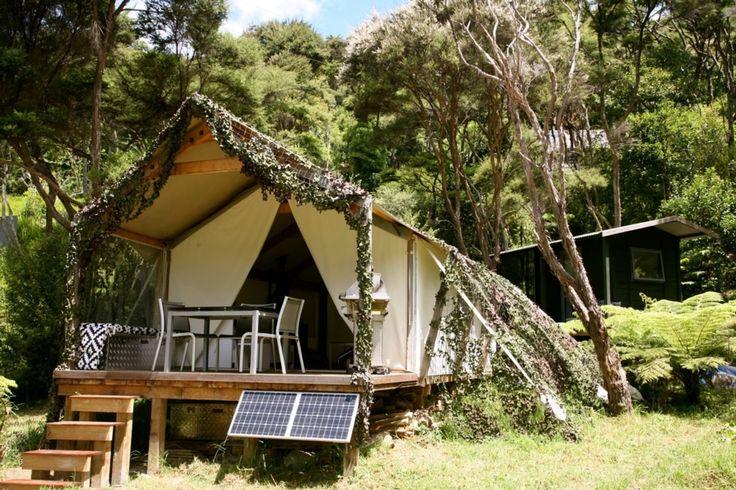 Luxury tent in bush clad setting 200m from beach in Orapiu, Waiheke Island | Bookabach