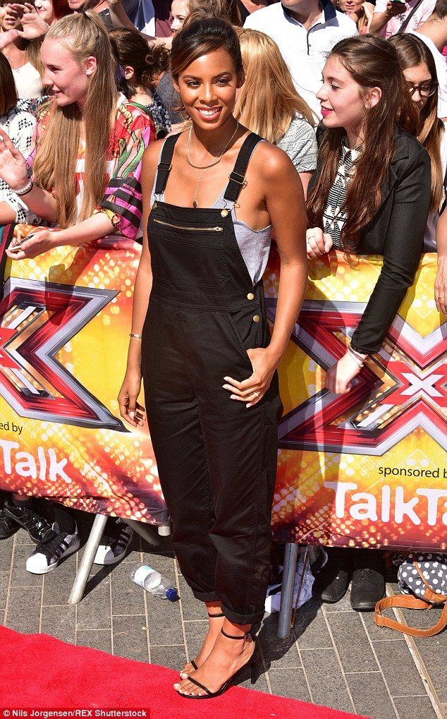 Stylish Saturday: Xtra Factor presenter Rochelle Humes looked effortlessly chic in a pair of black dungarees as she arrived at the latest round of auditions at Wembley Arena in London on Sunday