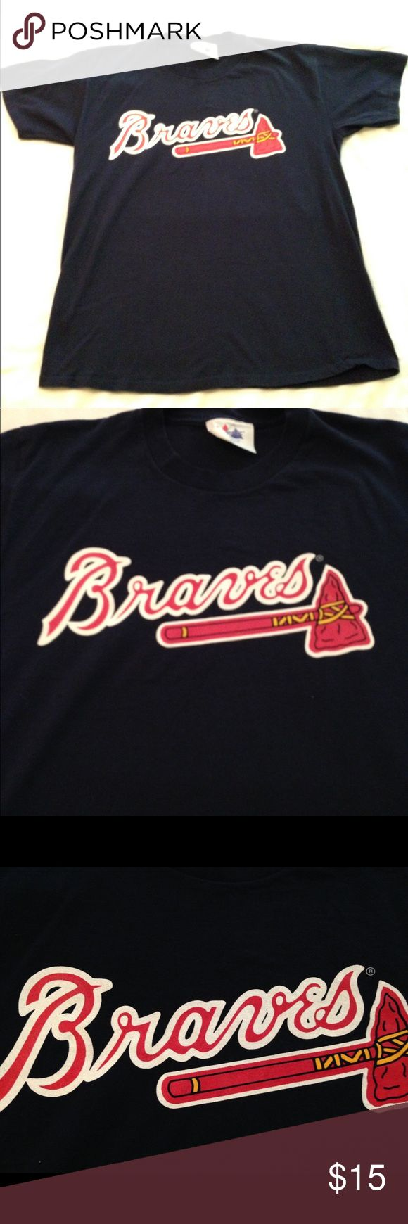 "Vintage Atlanta Braves Tshirt Sz Large Vintage Atlanta Braves Tshirt Sz Large in great preowned condition. Armpit to armpit 20"", Made in USA. Shirts Tees - Short Sleeve"