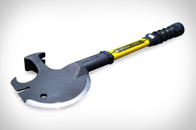 """The """"Trucker's Friend""""! Axe, spanner, hammer, nail puller, tire chain hook, pry bar and lever...all in one!"""