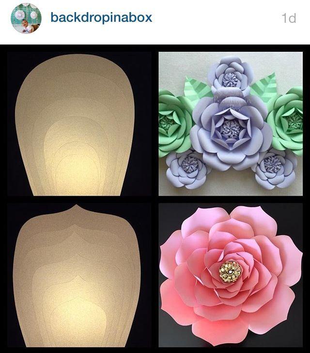 Giant paper roses/ flowers Más