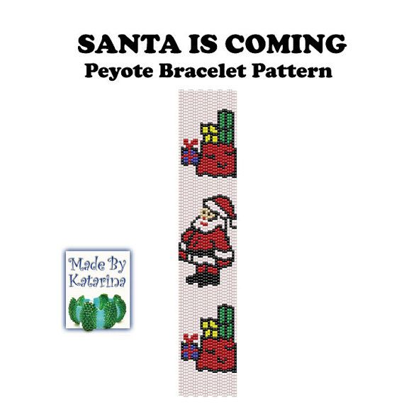 Peyote+Pattern++Santa+is+Coming++INSTANT+by+MadeByKatarina+on+Etsy,+$5.50