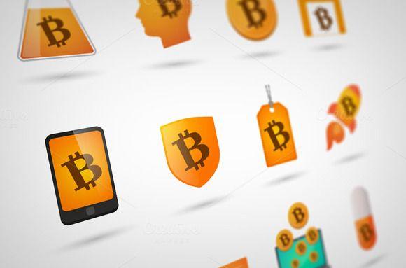 Bit Coin icon set by Blablo on Creative Market