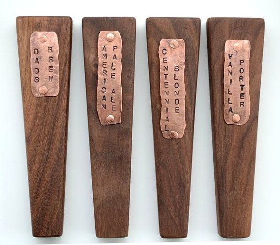 Personalized Beer Tap Handle of Copper & Walnut by BrewForge