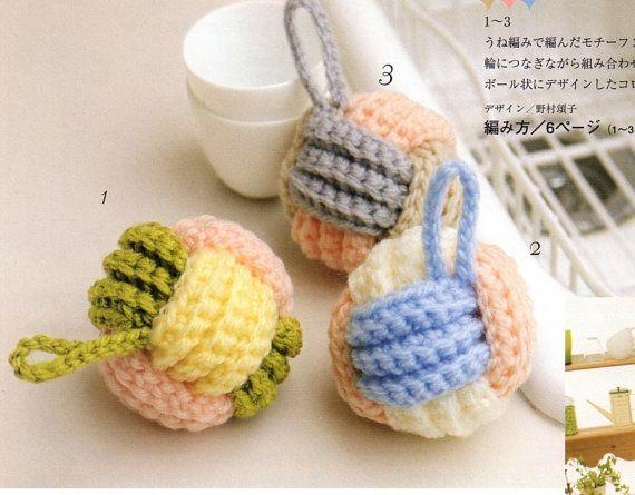 New TAWASHI Magic Scrubber 8 Scrubbies Crochet Kitchen Accessories Instant Download  PDF E-Book