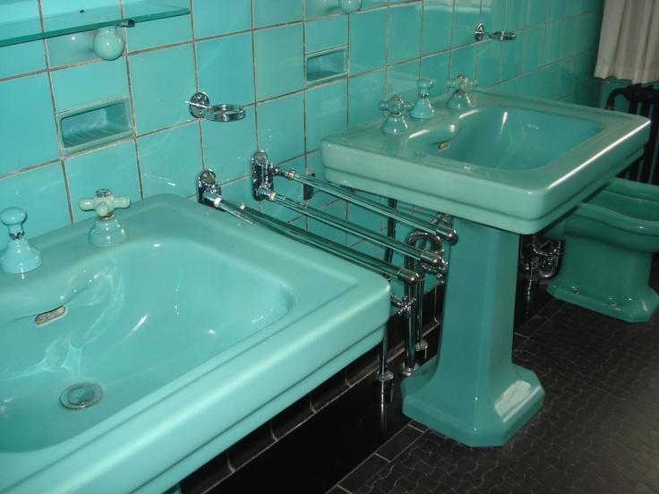 De badkamer van de ouders.