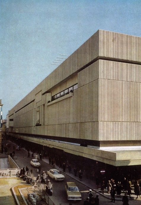 "Department Store ""De Innovation"" (1968) in Brussels, Belgium, by Jean Polak & René Stapels"