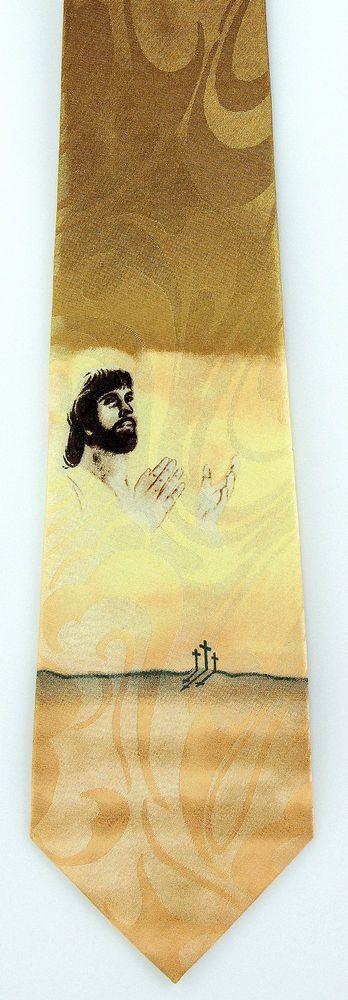 42 best christian religious easter images on pinterest easter calvary prayer mens neck tie religious necktie jesus christian cross gift new negle Gallery