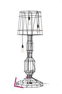 Stojací lampa firmy Karman.