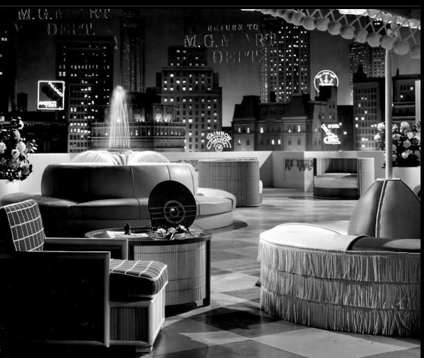 Hollywood Regency was a style that was very much in Vogue in set designs of the 1930's and 40's