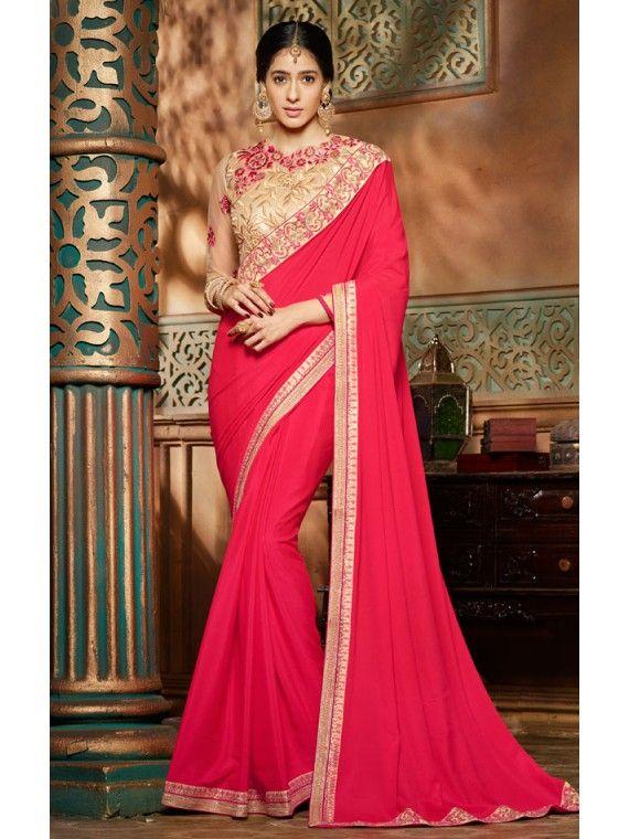 Angelic Dark Pink Online Fashion Saree