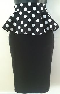 Fancy Meeting Ewe: Be on trend while on a budget. Introducing the Peplum belt and pencil skirt re-fashion tutorial!