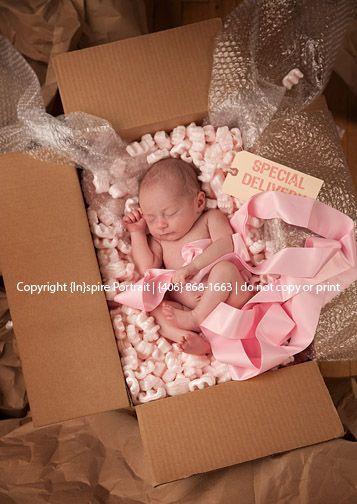 Adorable birth announcement photo idea