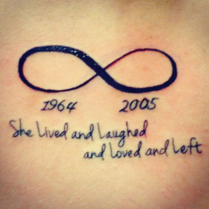 """HATE this tattoo but the quote """"THEY LIVED AND LAUGHED AND LOVED AND LEFT"""""""