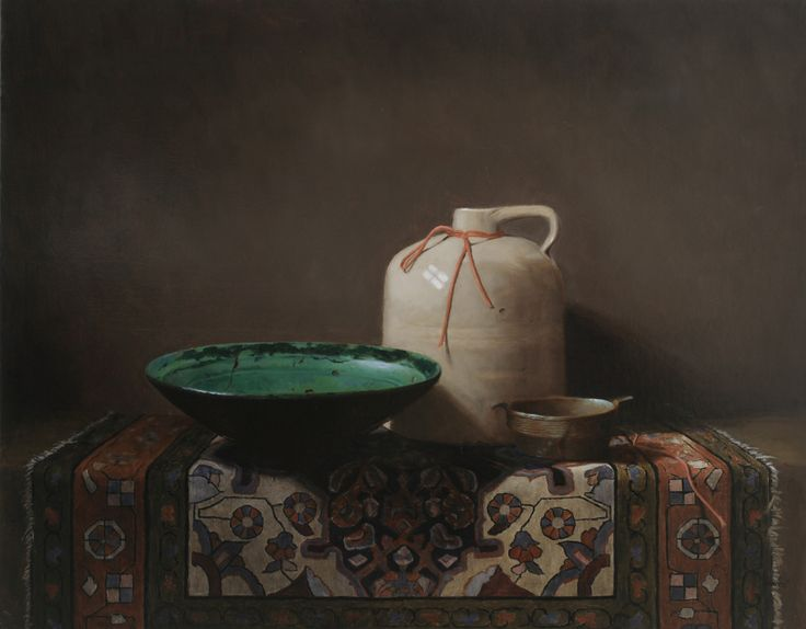 "Contemporary undefined - ""CROCK with PERSIAN BOWL"" (Original Art from Sandra Power)"
