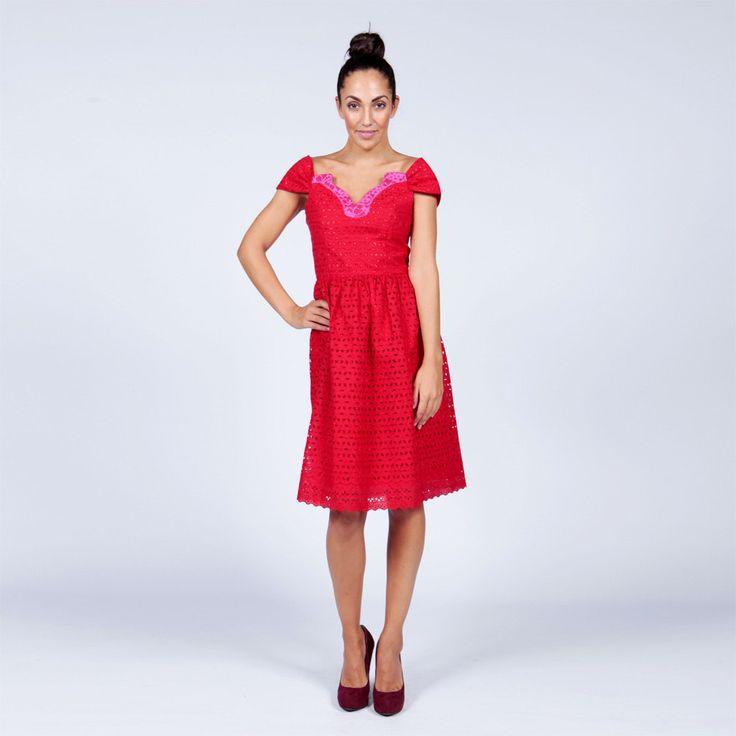 Red Lace Dress- Lace Cocktail Dress (37.50 GBP) by MyAshoMarket