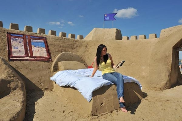 sand hotel in Dorset, England
