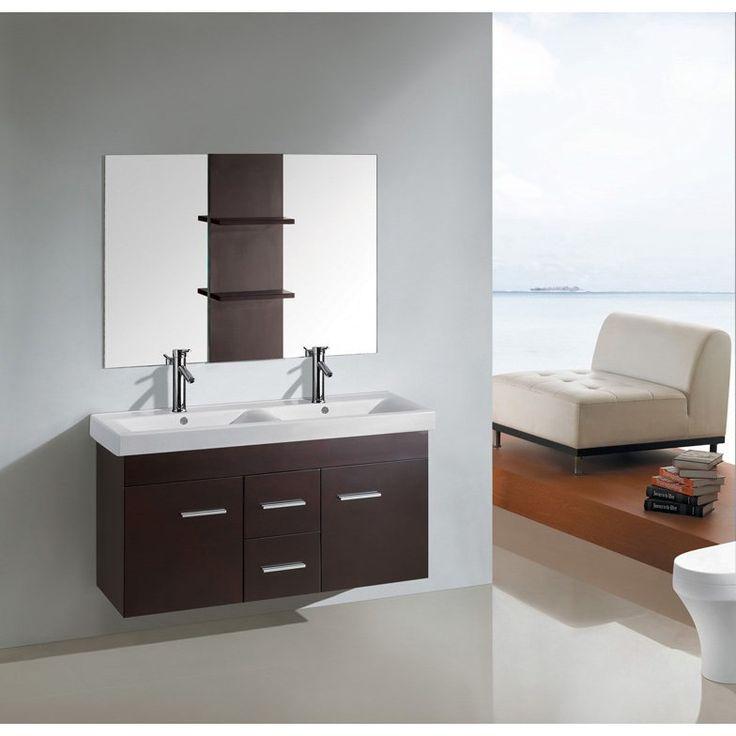 25 best ideas about floating bathroom vanities on - 48 inch double sink bathroom vanity ...
