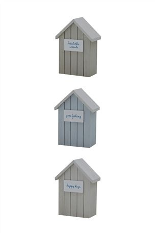Buy Beach Houses from the Next UK online shop 3 mdf painted H15xW10.5xD6 £14
