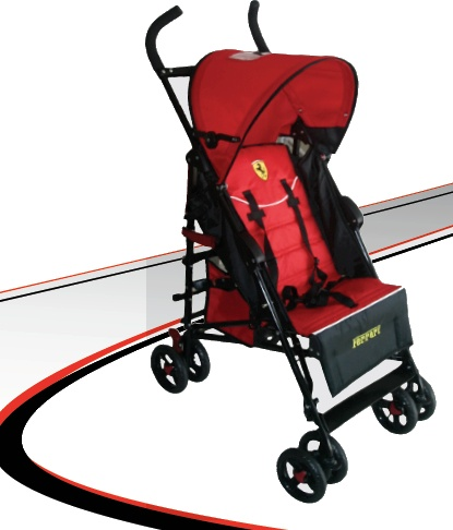 Ferrari Prima Stroller at $140.25 is a compact and maneuverable stroller with easy fold and on the go convenience. Aluminum frame is lightweight with multipositional reclining seat and five point safety harness. Stroller comes with canopy and peek a boo window and storage basket.