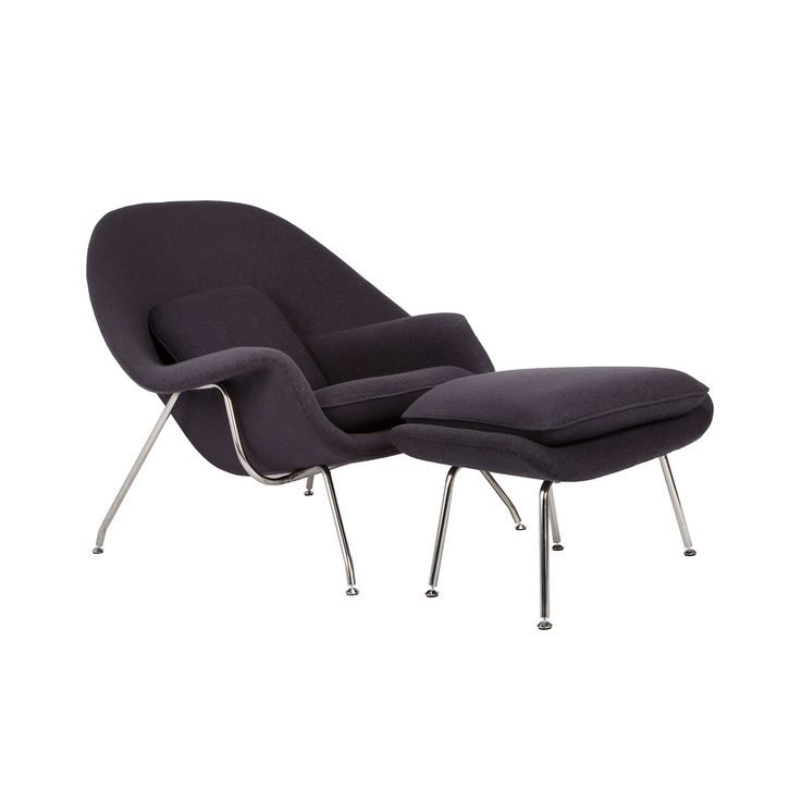 Nest Lounge and Ottoman Set in Charcoal | dotandbo.com