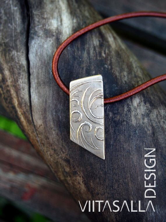 Moon Waves - Bronze pendant by Viitasalla Design on Etsy
