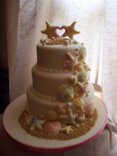 Shell Wedding cake by Andrea's SweetCakes, via Flickr